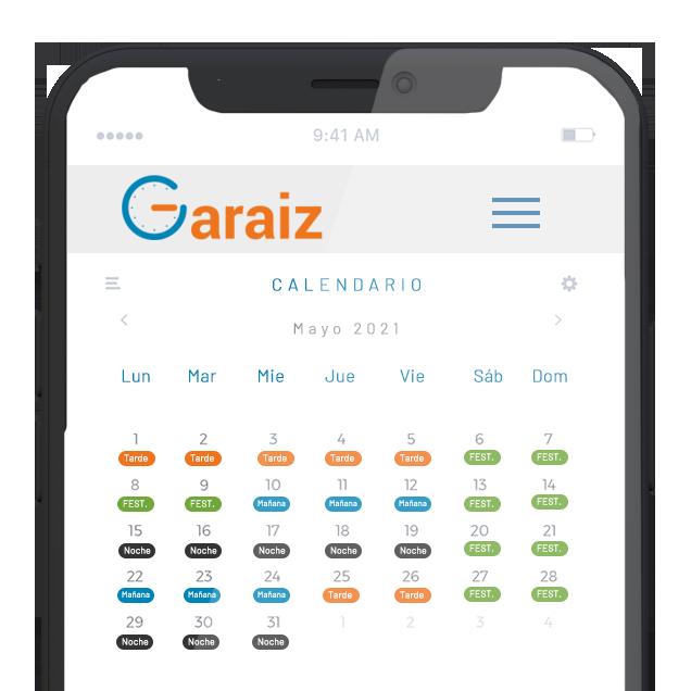Garaiz AT - App móvil de control horario para empresas de VITSYS